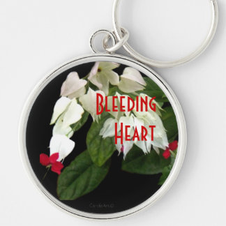 White Bleeding Hearts Keychains