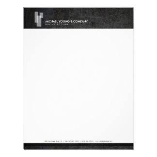 White Blocks Logo on Metal for Architects, Builder Letterhead