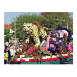 White Bloemencorso float with the theme Secret of Post Card