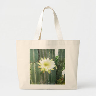 White Bloom On Cactus Tote Bag