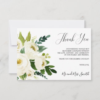 White Bloom | Rustic Floral Wedding Thank you