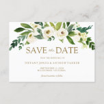 """White Blooming Flowers Save The Date Invite<br><div class=""""desc"""">White Blooming Flowers Save The Date Invite Beautiful White Floral  Suitable for all seasons Spring Wedding Summer,  Winter,  Fall,  Autumn. Great Modern Elegant design  See matching collection in Niche and Nest Store</div>"""