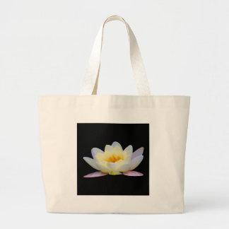 WHITE BLOOMING LOTUS BAG