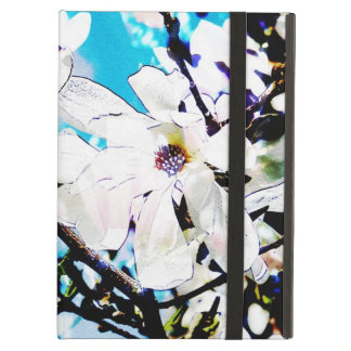 White blooming magnolia flowers cover for iPad air