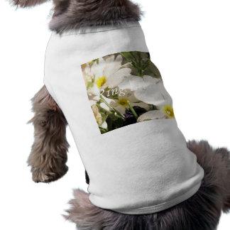 White Blooms Dog T-shirt