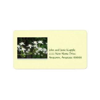 white blosom new couple address labels