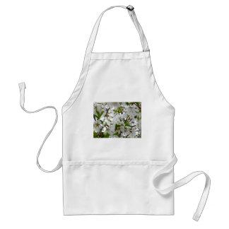 White Blossom Adult Apron