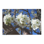 White Blossom Clusters Spring Flowering Pear Tree Placemat