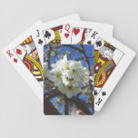White Blossom Clusters Spring Flowering Pear Tree Playing Cards