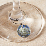 White Blossom Clusters Spring Flowering Pear Tree Wine Charm