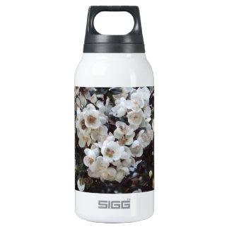 White Blossom, Feminine Floral Insulated Water Bottle