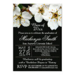 White Blossom Flowers Graduation Announcements