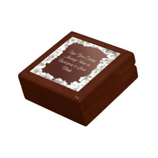 White Blossom Gift Box Personalized Flower Boxes