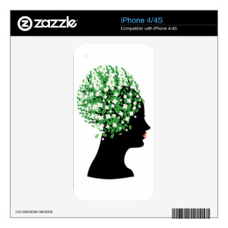 White blossom head decal for the iPhone 4S