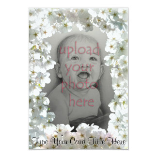 White Blossom Invitations Personalized RSVP Cards