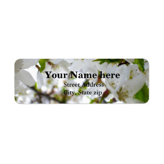White Blossom Label