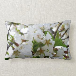 White Blossom Lumbar Pillow