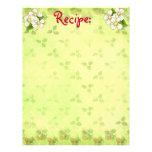 White Blossom Recipe Paper Customized Letterhead