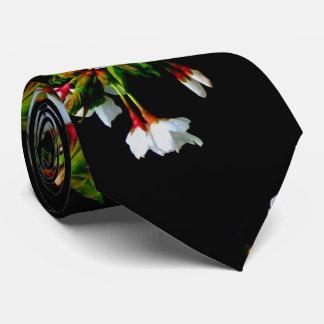 White blossom tie