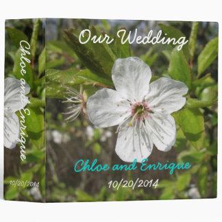 White Blossom Wedding Photo Binder