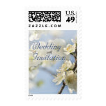 White blossom wedding postage