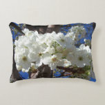 White Blossoms II Spring Flowering Tree Accent Pillow