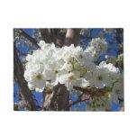 White Blossoms II Spring Flowering Tree Doormat