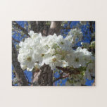White Blossoms II Spring Flowering Tree Jigsaw Puzzle