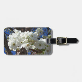 White Blossoms II Spring Flowering Tree Luggage Tag