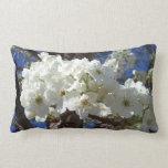 White Blossoms II Spring Flowering Tree Lumbar Pillow