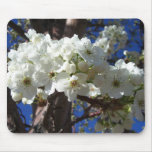 White Blossoms II Spring Flowering Tree Mouse Pad