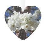 White Blossoms II Spring Flowering Tree Ornament