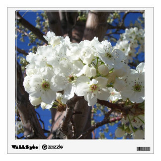 White Blossoms II Spring Flowering Tree Wall Sticker