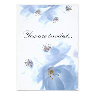 White Blossoms Invitation