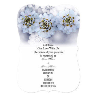 White Blossoms Party Family Friends Wedding Guests Card