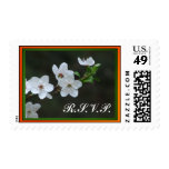White blossoms RSVP Postage