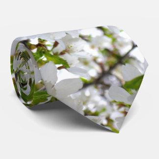 White Blossoms Tie