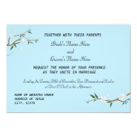 White Blossoms Wedding Invitations