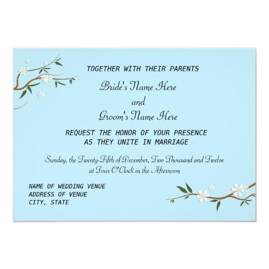 White Blossoms Wedding Invitations