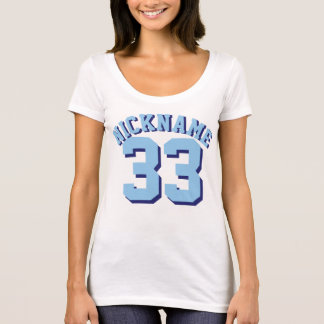 White & Blue Adults | Sports Jersey Design T-Shirt