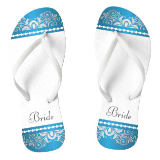 White, Blue and Silver Lace   Wedding Party