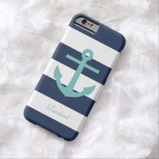 White Blue & Aqua Anchors Aweigh iPhone 6 Case