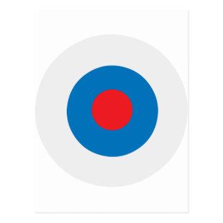 White Blue Bullseye Target Postcard