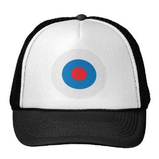 White Blue Bullseye Target Trucker Hat