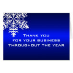 White & Blue Business Thank You Note Card