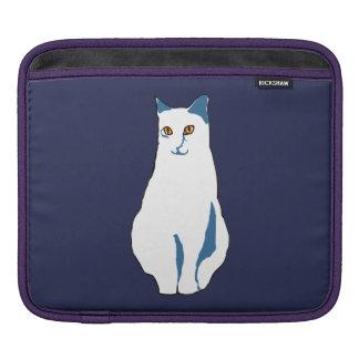 White-Blue Cat iPad Sleeve