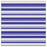 [ Thumbnail: White & Blue Colored Striped Pattern Fabric ]