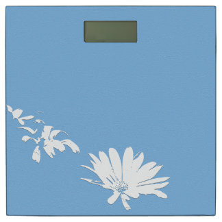 White Blue Daisy Flowers Floral Art Scale