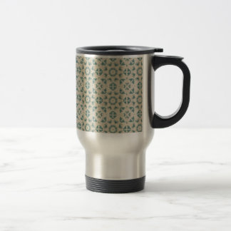 White Blue Geometric Pattern BAckground Coffee Mugs
