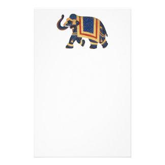 white blue grey gold red Elephant India Style Stationery